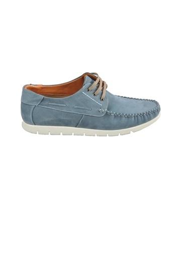 Ayakmod 415 Haki Nubuk Hakiki Deri Erkek Günlük Ayakkabı Mavi